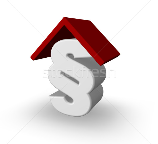 paragraph symbol with rooftop Stock photo © drizzd