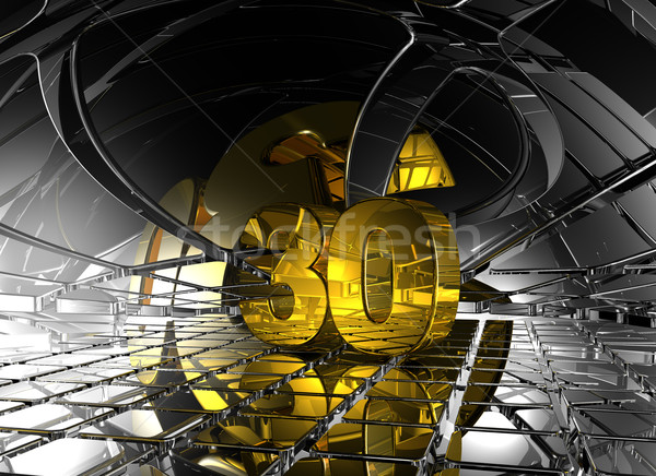 Numara otuz soyut fütüristik uzay 3d illustration Stok fotoğraf © drizzd