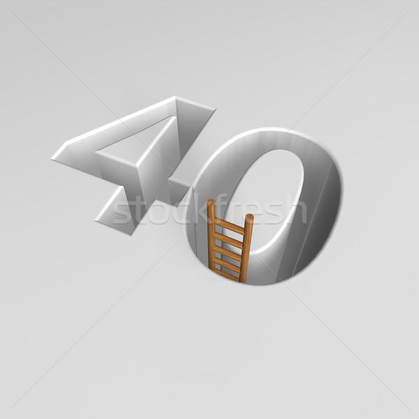 Numero quaranta scala buco illustrazione 3d Foto d'archivio © drizzd