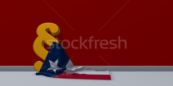 Bandeira parágrafo símbolo ilustração 3d tribunal cultura Foto stock © drizzd