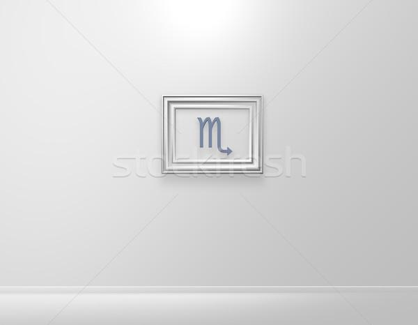Quadro de imagem símbolo ilustração 3d assinar planeta quadro Foto stock © drizzd
