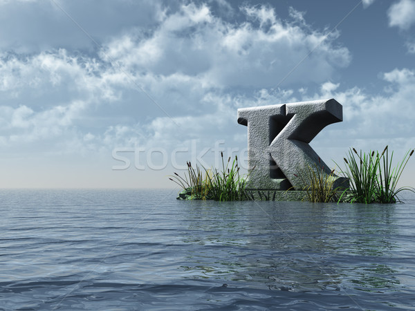 letter k monument Stock photo © drizzd