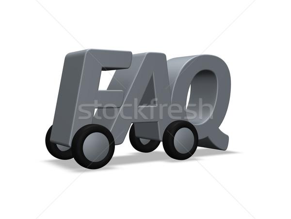 よくある質問 ホイール 文字 3次元の図 ヘルプ 送料 ストックフォト © drizzd