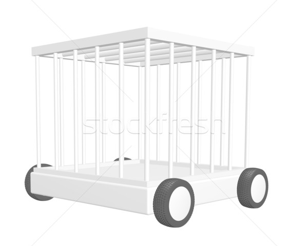 cage on wheels Stock photo © drizzd