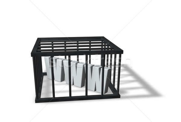 Censure lettres www cage blanche 3d illustration Photo stock © drizzd