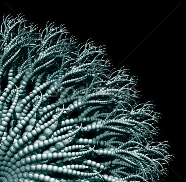 Abstract organisch vorm zwarte 3d illustration slang Stockfoto © drizzd
