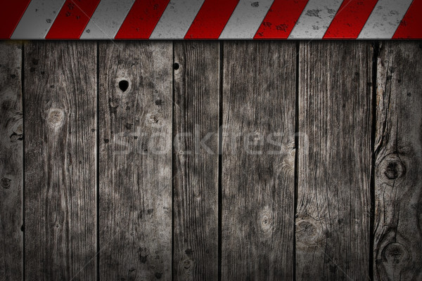 wooden background with warning bar Stock photo © drizzd