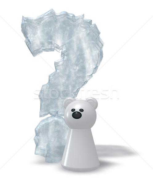 polar bear question Stock photo © drizzd