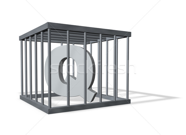 big Q in a cage Stock photo © drizzd