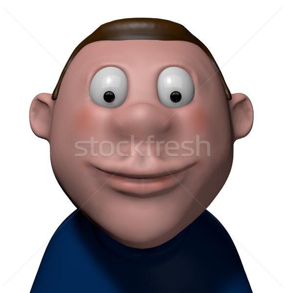 Sorridere fumetto carattere 3D cartoon Foto d'archivio © drizzd
