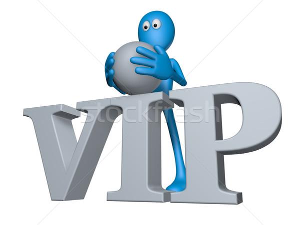 Vip etiqueta azul tipo palabra 3d Foto stock © drizzd