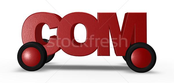 Voertuig tag wielen 3d illustration business wereld Stockfoto © drizzd