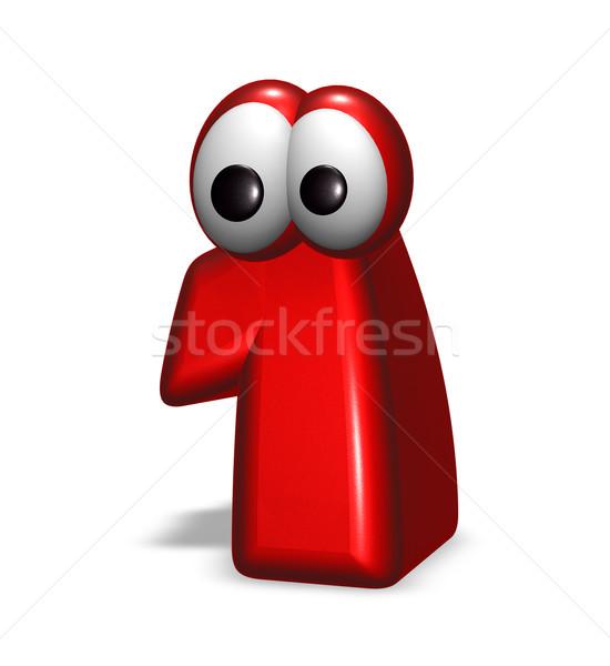Legelső rajz fehér 3d illusztráció arc felirat Stock fotó © drizzd