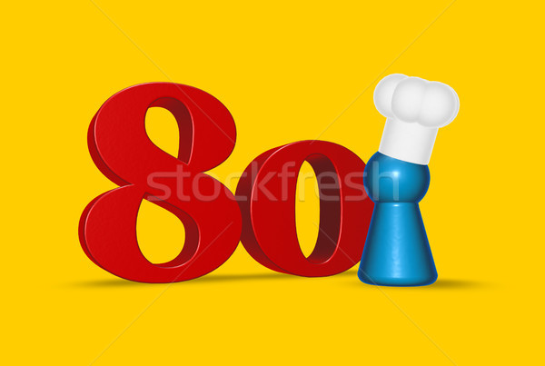 number eighty cook Stock photo © drizzd