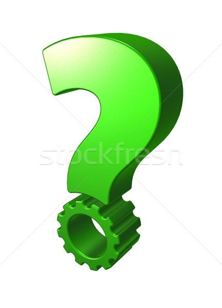 gear wheel question mark Stock photo © drizzd