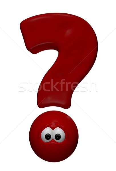 funny question mark Stock photo © drizzd