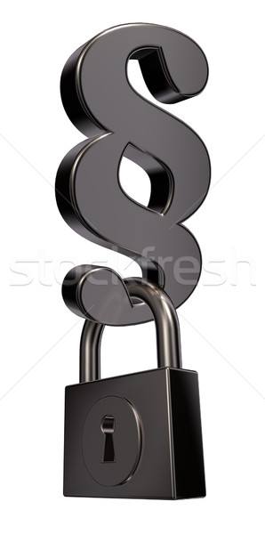 locked paragraph Stock photo © drizzd