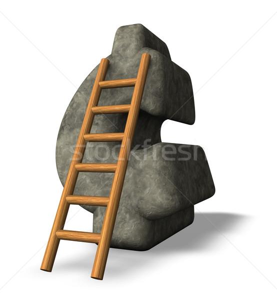 石 セント シンボル はしご 3次元の図 金融 ストックフォト © drizzd