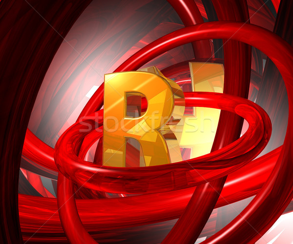 letter r in abstract space Stock photo © drizzd