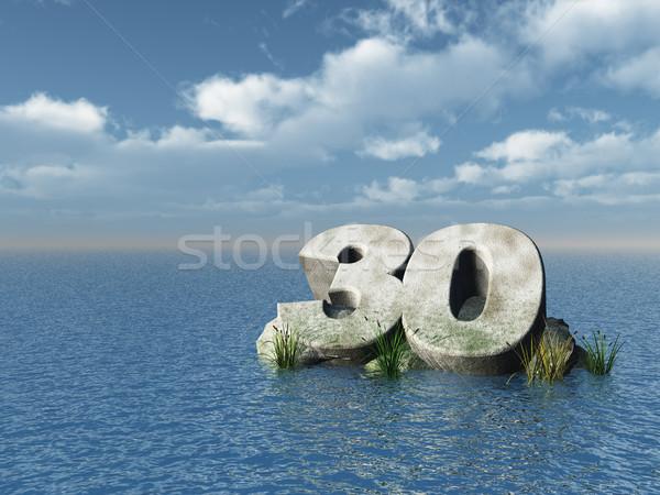 Trenta numero Ocean illustrazione 3d natura mare Foto d'archivio © drizzd