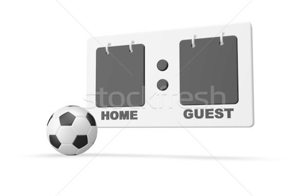 Puan sayı tahtası futbol topu beyaz 3d illustration top Stok fotoğraf © drizzd