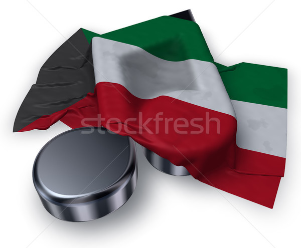 Música nota símbolo bandeira Kuweit 3D Foto stock © drizzd