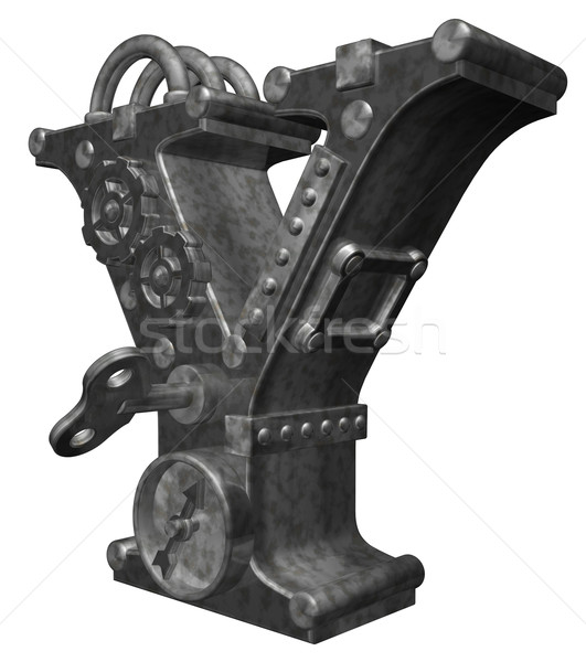 steampunk letter y Stock photo © drizzd