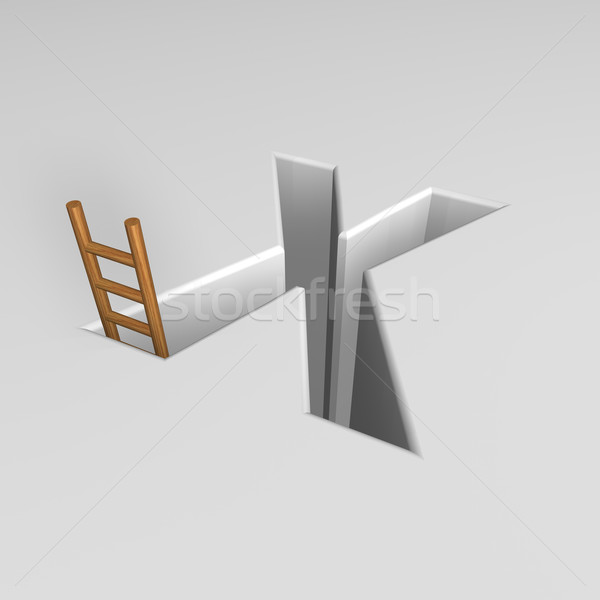 letter x and ladder Stock photo © drizzd