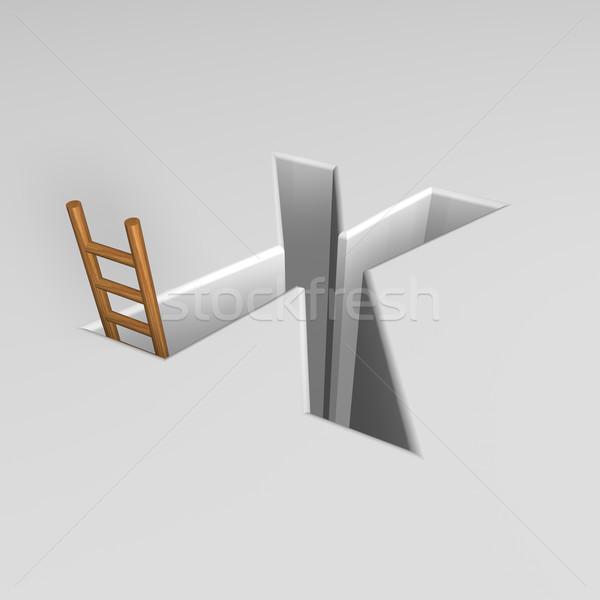 手紙 はしご 穴 3次元の図 キャリア ストックフォト © drizzd