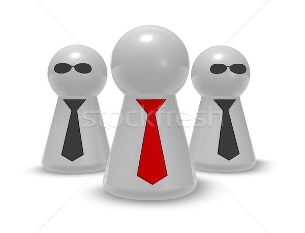 Játék nyakkendő nap szemüveg 3d illusztráció üzlet Stock fotó © drizzd