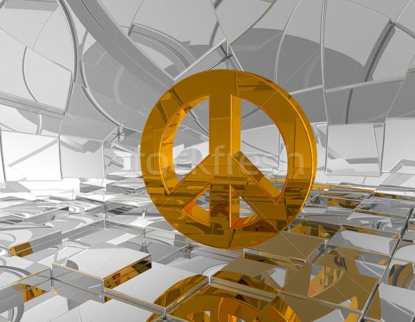 Simbolo futuristico spazio illustrazione 3d guerra Foto d'archivio © drizzd
