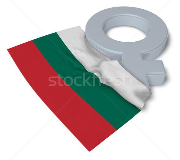 Zdjęcia stock: Symbol · kobiecy · banderą · 3D · krzyż