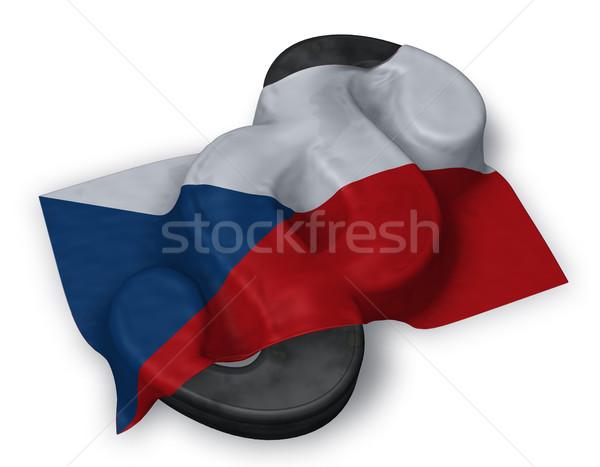 Paragraphe symbole pavillon tchèque république 3D Photo stock © drizzd