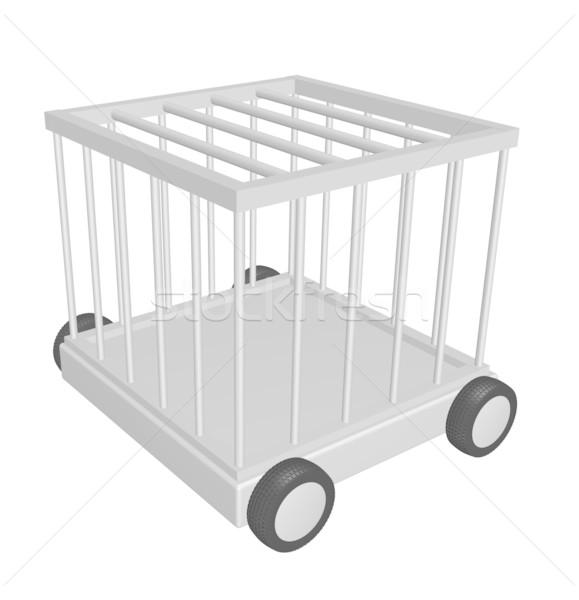 Jaula ruedas 3d seguridad ley bloqueo Foto stock © drizzd