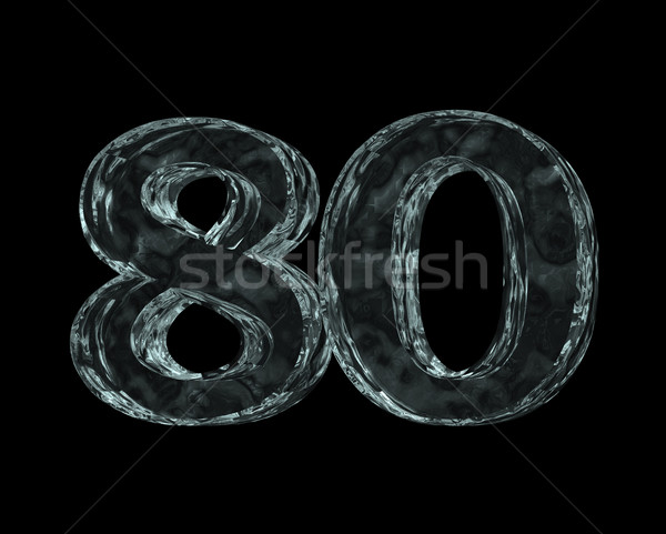 frozen number eighty Stock photo © drizzd