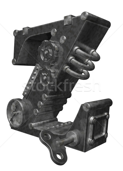Steampunk beyaz 3d illustration saat sanat Stok fotoğraf © drizzd