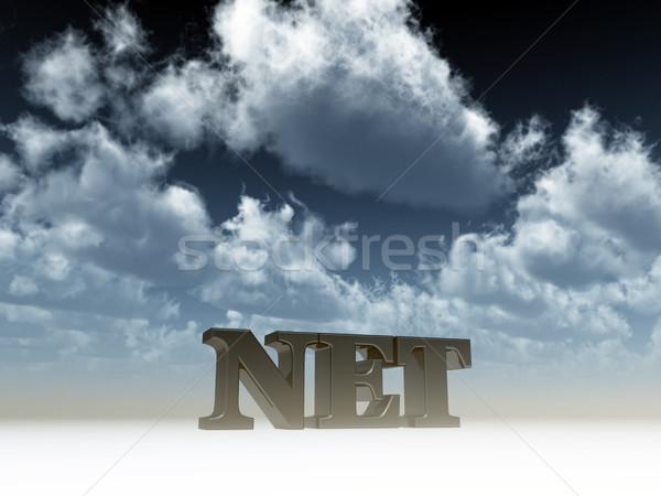 純 ドメイン 曇った 青空 3次元の図 雲 ストックフォト © drizzd