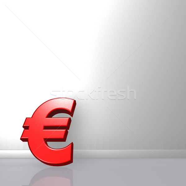 red euro symbol Stock photo © drizzd