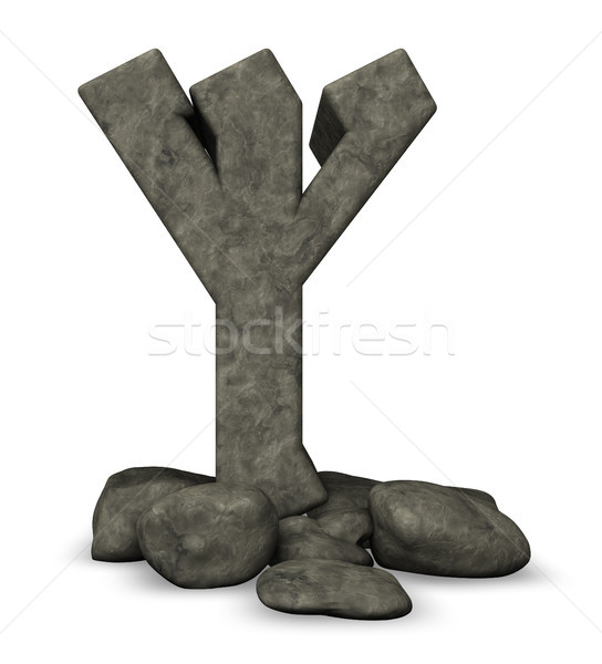 каменные белый 3d иллюстрации знак письме история Сток-фото © drizzd