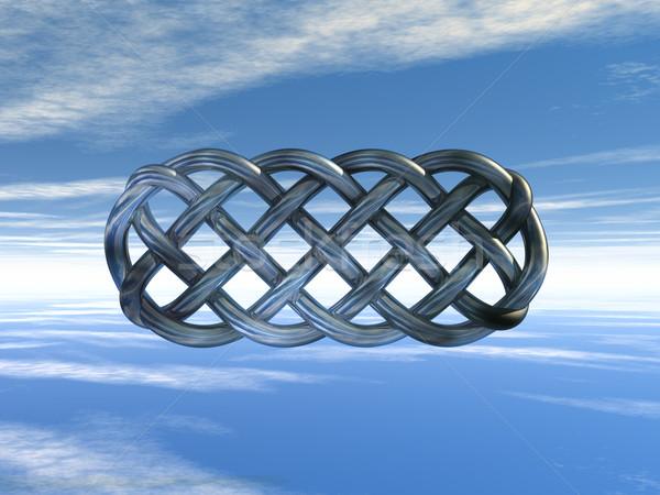 Celtic metaal bewolkt hemel 3d illustration wolken Stockfoto © drizzd