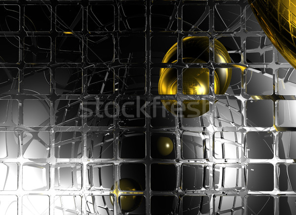abstract futuristic background with sphere - 3d illustration Stock photo © drizzd