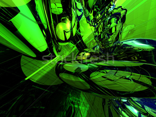 Urla abstract futuristic neon lumina uman Imagine de stoc © drizzd