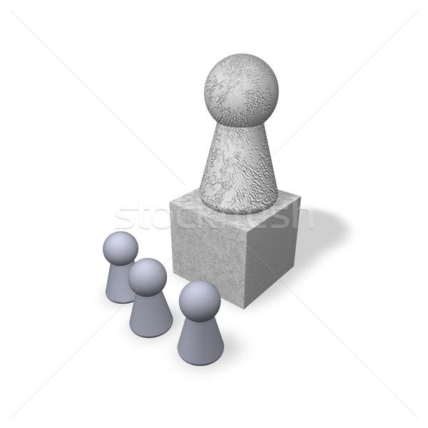 Spelen werk kunst steen standbeeld geheugen Stockfoto © drizzd