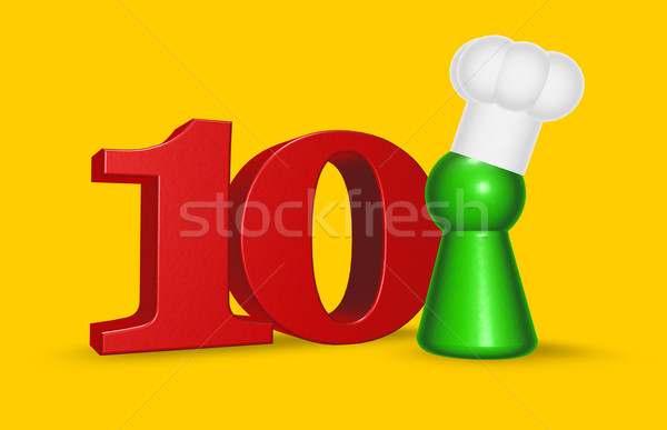 Stock photo: number ten cook