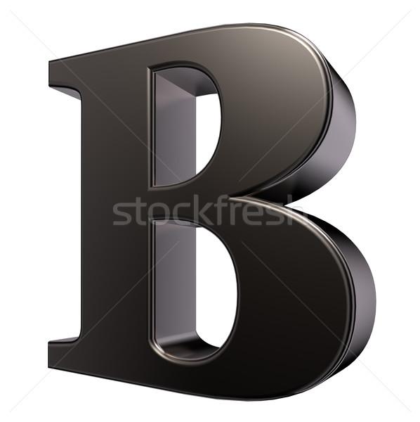 Metal mektup beyaz 3d illustration okul çelik Stok fotoğraf © drizzd