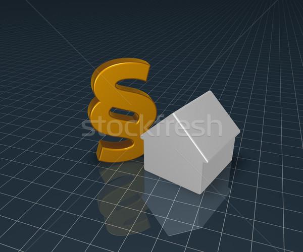 Paragraphe symbole maison 3D 3d illustration Photo stock © drizzd