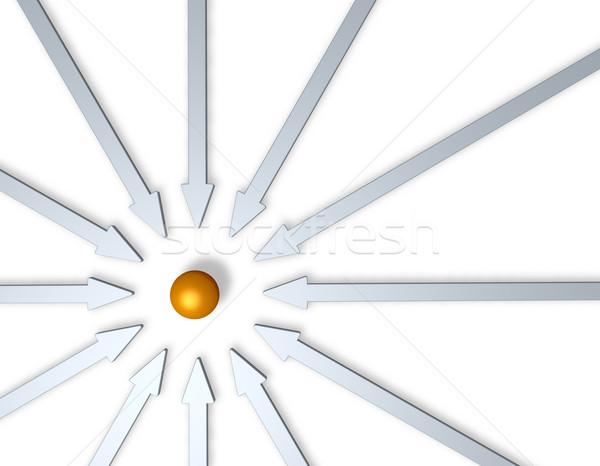 Inovação dourado bola meio ilustração 3d Foto stock © drizzd