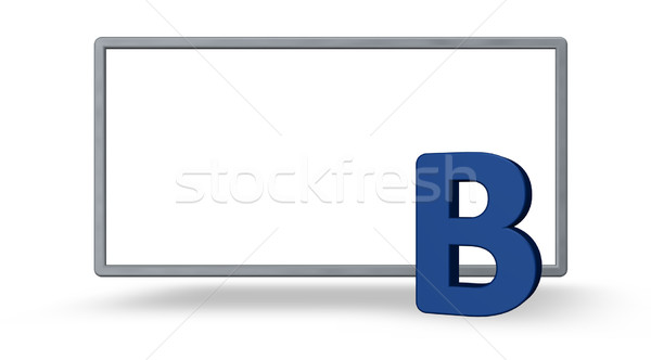 blue letter b Stock photo © drizzd