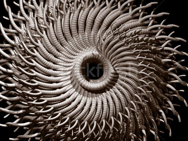 Abstrato orgânico futurista ilustração 3d fundo monstro Foto stock © drizzd