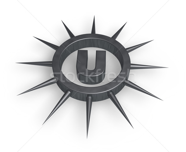 spiky letter u Stock photo © drizzd